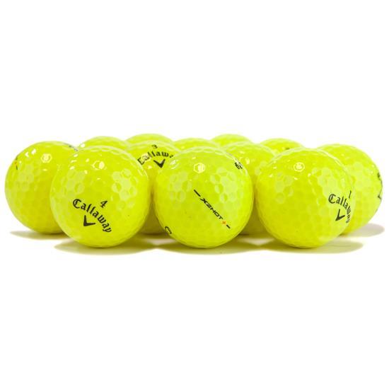 Callaway Golf X2 Hot+ Yellow Logo Overrun Golf Balls