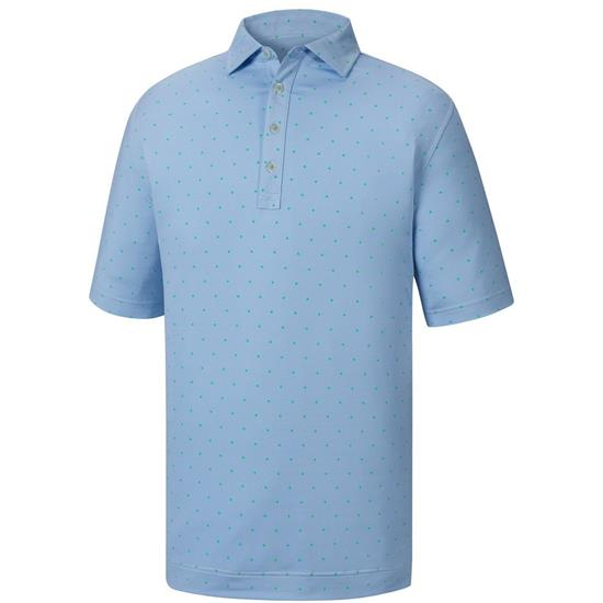 FootJoy Men's End on End Lisle Print Collar Athletic Fit Polo