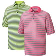 FootJoy Men's Lisle Multi Stripe Self Collar Polo