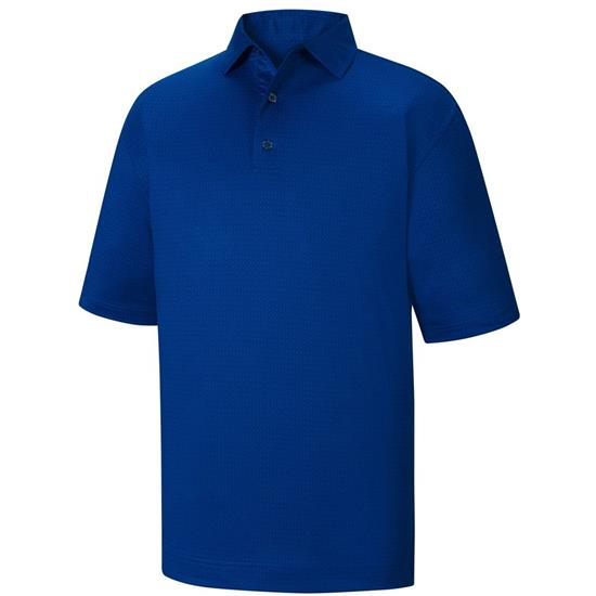 FootJoy Men's Tonal Print Lisle Self Collar Polo Previous Season