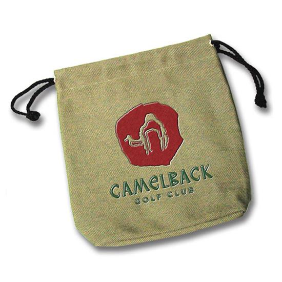 Logo Golf Embroidered Canvas Pouch