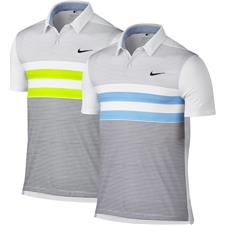 Nike Men's Modern Fit TR Dry Stripe Polo Manf. Closeout