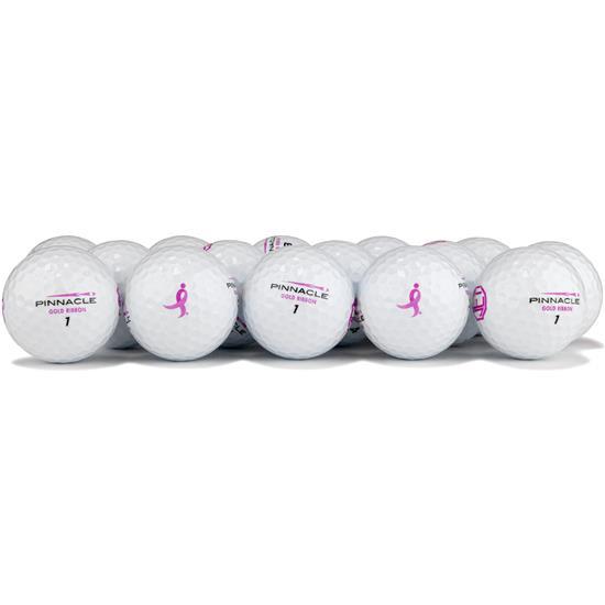 Pinnacle Gold Ribbon Logo Overrun Golf Balls for Women