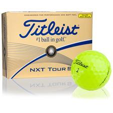 Titleist Custom Logo NXT Tour S Yellow Golf Balls