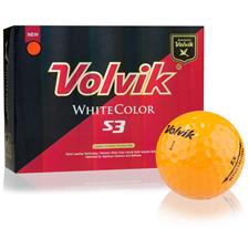 Volvik White Color S3 Orange Golf Balls