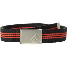 Adidas Stripe Webbing Belt - Black Heather-Core Red - One Size Fits Most