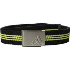 Adidas Stripe Webbing Belt - Black Heather-Semi Solar Yellow - One Size Fits Most