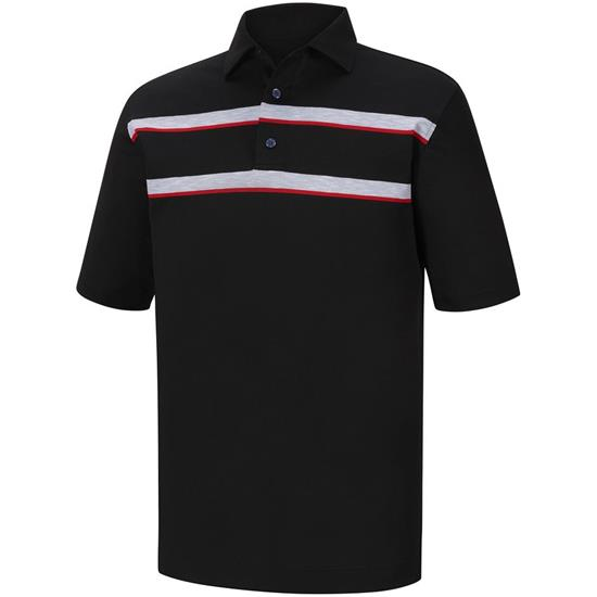 FootJoy Men's Athletic Fit Stretch Pique Self Collar Polo
