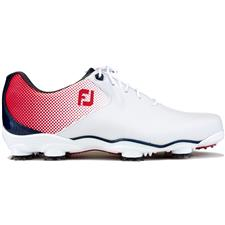 FootJoy White-Red-Blue D.N.A. Helix Previous Season Golf Shoes