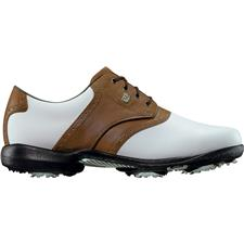 FootJoy White-Brown DryJoys Leather Golf Shoes for Women