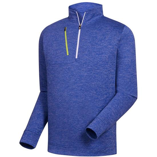 FootJoy Men's Heather Pinstripe Half-Zip Pullover