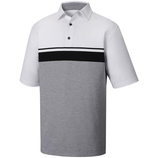 FootJoy Men's Lisle Color Block Space Dye Self Collar Polo