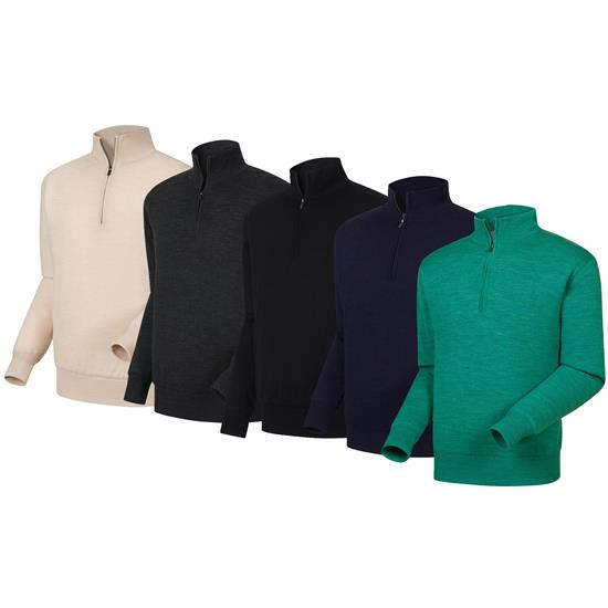 FootJoy Men's Performance Lined Half-Zip Solid Logo Sweater