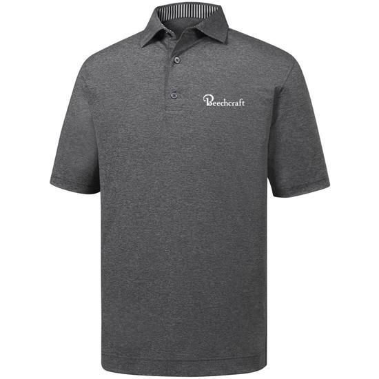 FootJoy Men's ProDry Performance Solid Lisle Self Collar Shirt