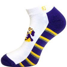 FootJoy Men's ProDry Sport Sock - White - LSU Tigers