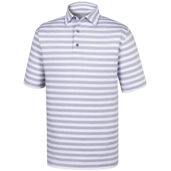 FootJoy Men's Stretch Lisle Stripe Self Collar Polo