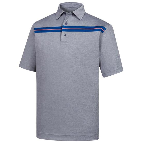 FootJoy Men's Stretch Pique Space Dye Chestband Self Collar Polo