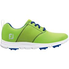 FootJoy Lime-Sapphire enJoy Golf Shoes for Juniors