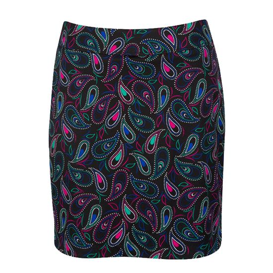 Greg Norman Dotted Paisley Print Knit Skort for Women