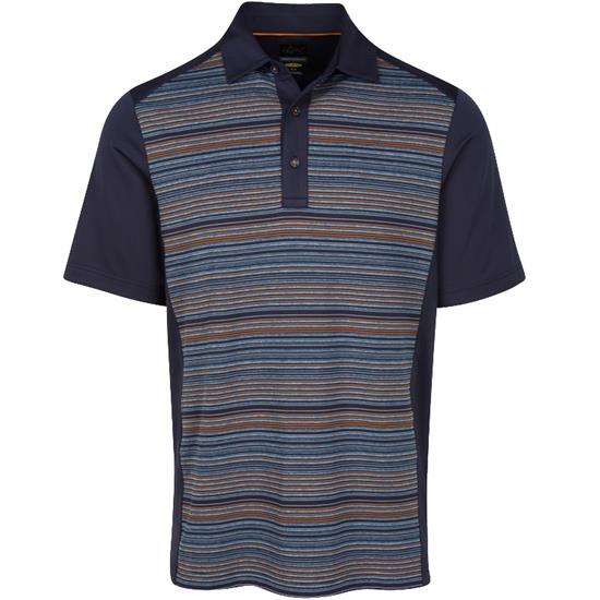 Greg Norman Men's Heather Striped Polo