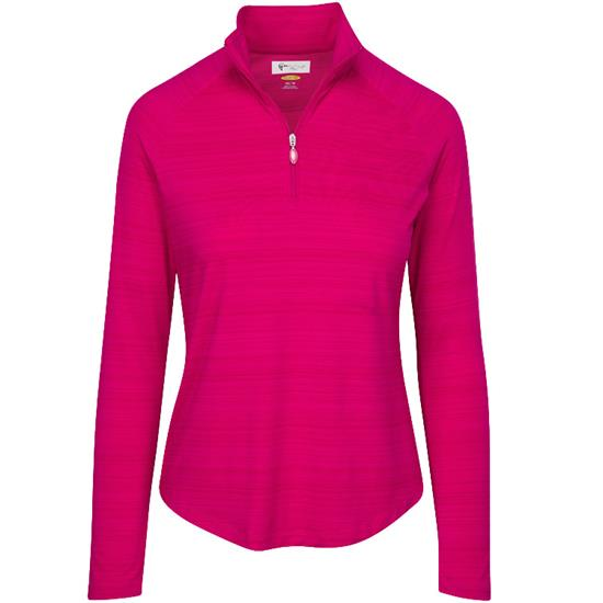 Greg Norman Heathered 1/4 Zip Mock for Women
