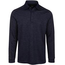 Greg Norman Men's Heathered Long Sleeve Polo