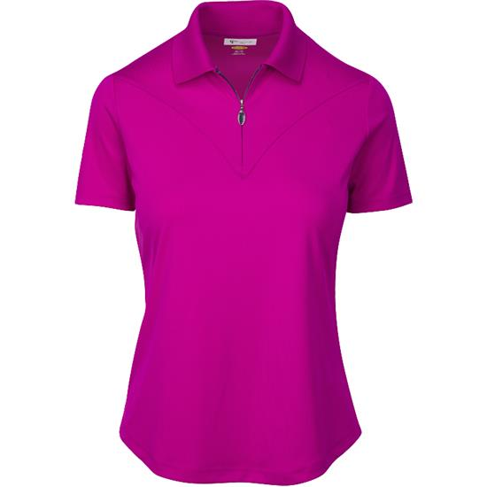 Greg Norman ML75 Short Sleeve Fashion Yoke Polo for Women