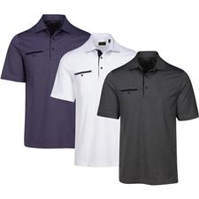 Greg Norman Men's Modern Heritage Heathered Pocket Polo