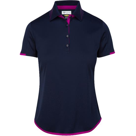 Greg Norman Short Sleeve Vine Print Polo for Women