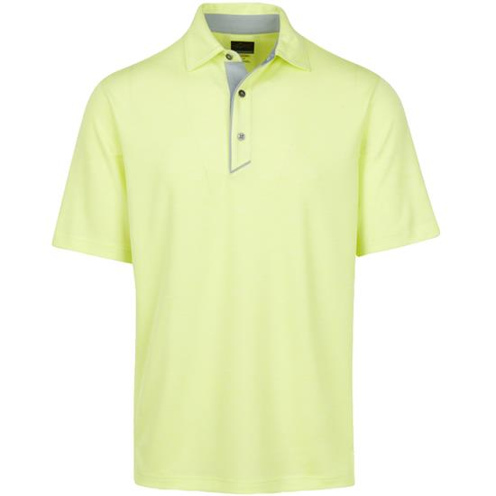 Greg Norman Men's Textured Heathered Polo