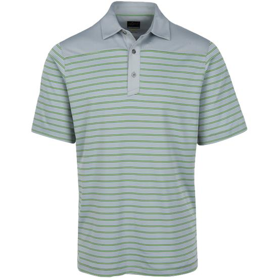 Greg Norman Men's Weatherknit Stripe Polo