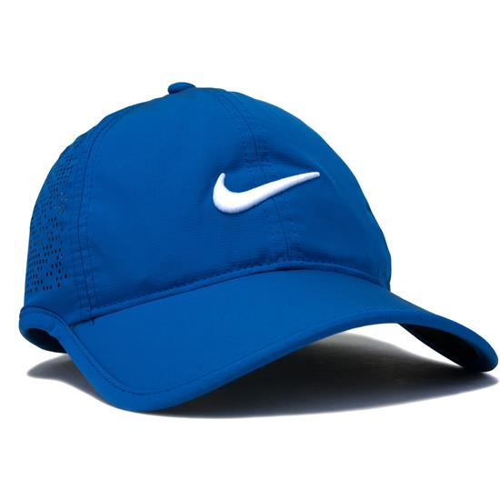 Nike Perforated Hat for Women - Blue Jay-White Golfballs.com 727040c46b1
