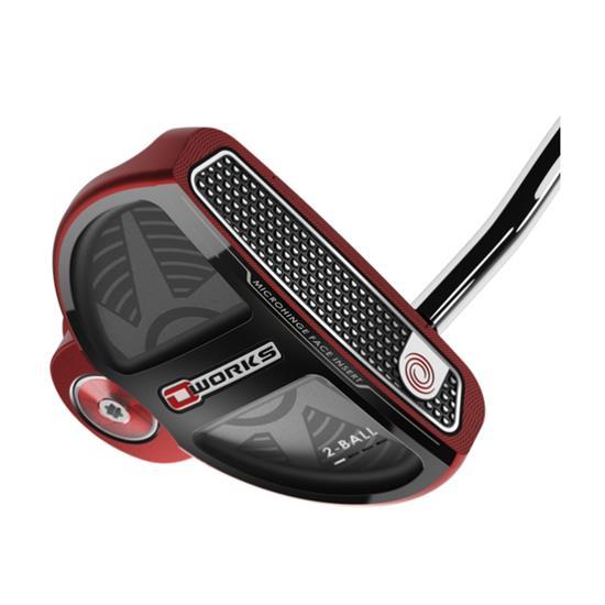 Odyssey Golf O-Works Red 2-Ball Putter w/ SS Mid Slim 2.0 Grip