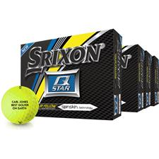 Srixon Q-Star Tour Yellow Personalized Golf Balls - Buy 3 DZ Get 1 DZ Free