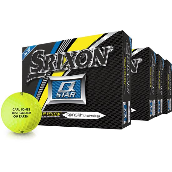 Srixon Q-Star Tour Yellow Golf Balls - Buy 3 Get 1 Free
