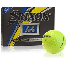 Srixon Q-Star Tour Yellow Personalized Golf Balls