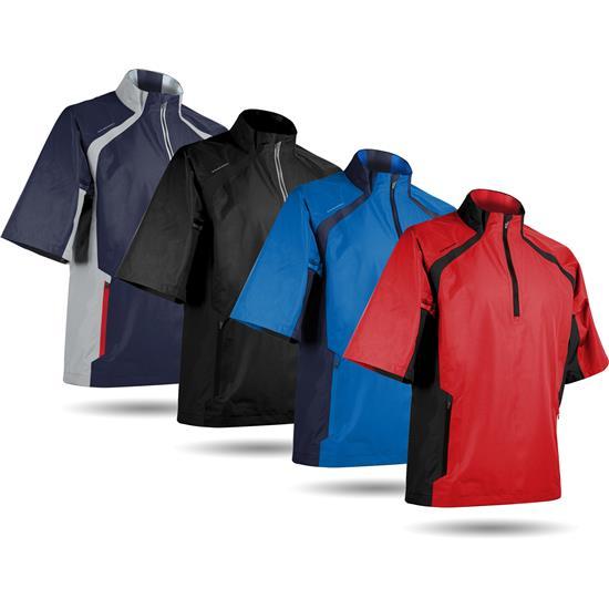 Sun Mountain Men's Cumulus Short Sleeve Rainwear Pullover