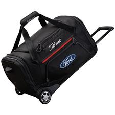 Titleist Essentials Custom Logo Wheeled Duffel - Black-Red-White