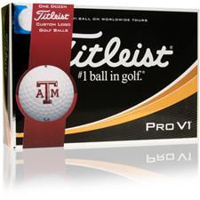 Titleist Pro V1 Collegiate ID-Align Golf Balls - Texas A&M Aggies