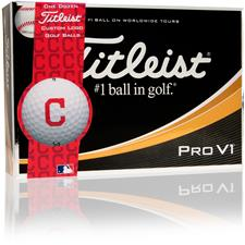 Titleist Prior Generation Pro V1 MLB Golf Balls - Cleveland Indians