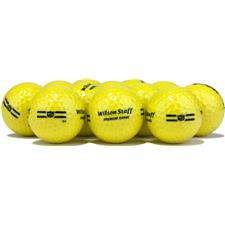 Wilson Staff Premium Range Yellow Golf Balls