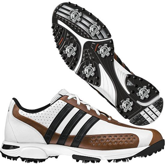 Adidas Men's FitRX Golf Shoes - White/Cognac/Black