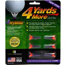 4 Yards More Hybrid Red-Purple Golf Tees - 6 CT