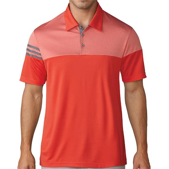Adidas Men's 3-Stripes Heather Block Polo