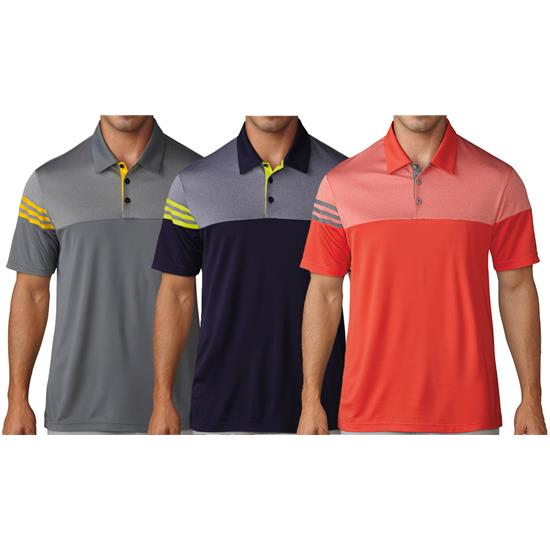Adidas Men's 3-Stripes Heather Block Polo