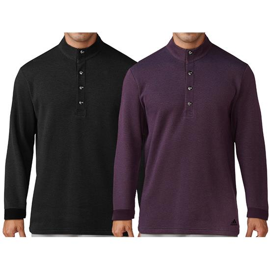 Adidas Men's Button-Up Pique Henley