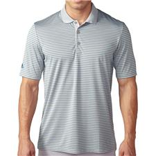 Adidas Men's ClimaCool 2-Color Pencil Stripe Polo