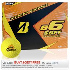 Bridgestone e6 Soft Yellow Custom Logo Golf Balls