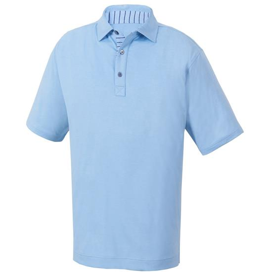 FootJoy Men's Heather Lisle Self Collar Previous Season Polo