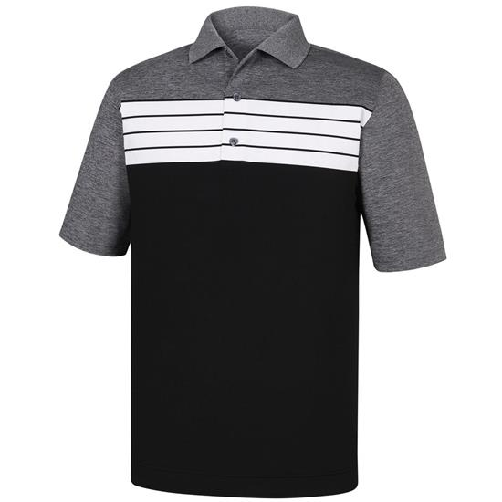 FootJoy Men's Stretch Color Block Knit Collar Athletic Fit Polo